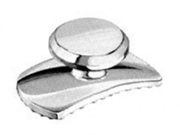 Metall Klebeknopf Basis gewölbt