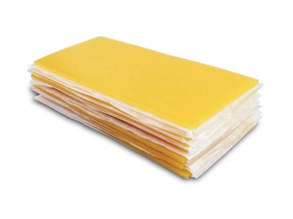Aufstellwachs für Bänder gelb