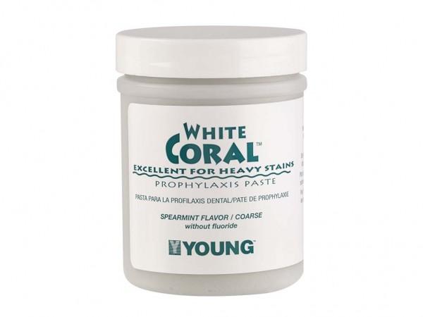 Prophylaxe Paste White Coral Pfefferminze 250g mit Fluor