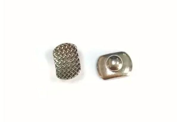 Klebeknopf Metall elliptische Basis